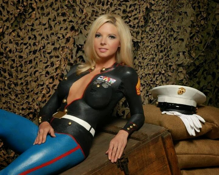 Girls In Painted Military Uniform  Craziest Photo Collection-1776