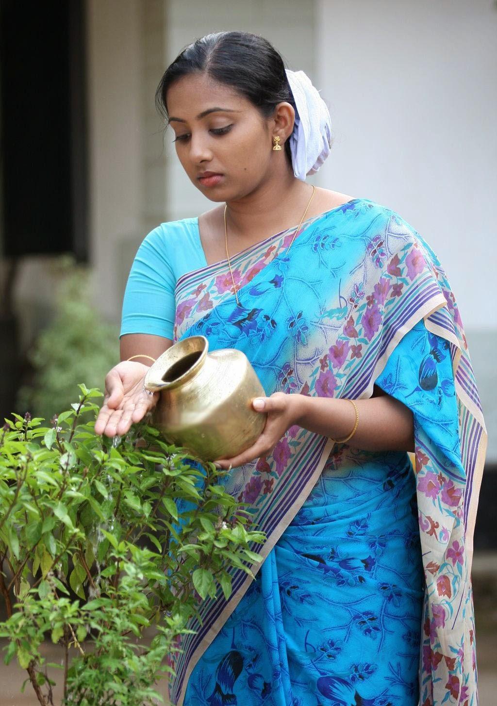 Malayalam Serial Actress Niya In Saree